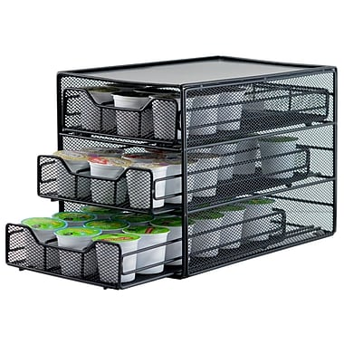 The Storage House 3-Tier Coffee Pod Drawer, 54 K-Cups, Black