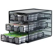 The Storage House - Support à 3 tiroirs pour dosettes de café, 54 dosettes K-Cup, noir