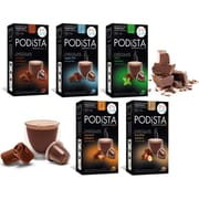 PODiSTA Hot Chocolate Variety Pack, Nespresso Original Line, 60/Pack