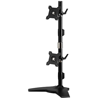 Amer Mounts Stand Based Vertical Dual Monitor Mount for two 15
