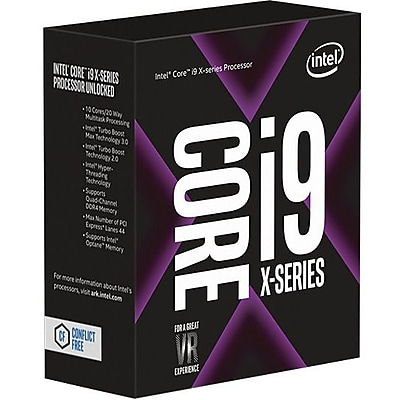 Intel Core i9 i9-7900X Deca-core (10 Core) 3.30 GHz Processor, Socket R4 LGA-2066Retail Pack (BX80673I97900X)