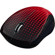 Verbatim Wireless Notebook Multi-Trac Blue LED Mouse, Dot Pattern Red (99748)