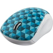 Verbatim Wireless Notebook Multi-Trac Blue LED Mouse, Diamond Pattern Blue (99745)