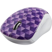 Verbatim Wireless Notebook Multi-Trac Blue LED Mouse, Diamond Pattern Purple (99746)
