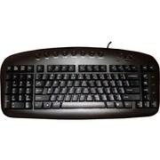 A4Tech Left Handed Keyboard Wired USB Black (KBS-29BLK)
