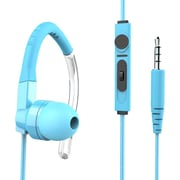 GabbaGoods Sports Earbuds with Mic (GG-HST-BLU)