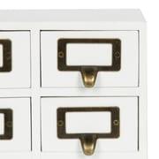 Gracie Oaks Kristian Apothecary Wood 9 Drawer Desktop Organizer