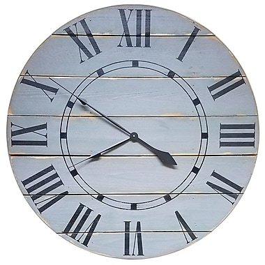 Gracie Oaks Nahush Oversized Wall Clock; 24'' H x 24'' W x 1.5'' D