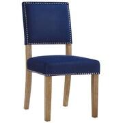 Gracie Oaks Trever Upholstered Dining Chair; Navy