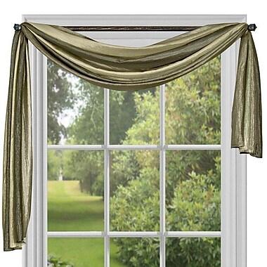Fleur De Lis Living Channel Traditional Elegance Ombre Scarf 50'' Window Valance