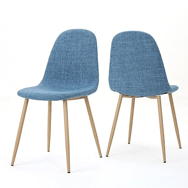 George Oliver Christopher Upholstered Dining Chair (Set of 2); Muted Blue