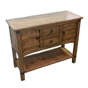 Gracie Oaks Abha Wooden Kitchen Console Table