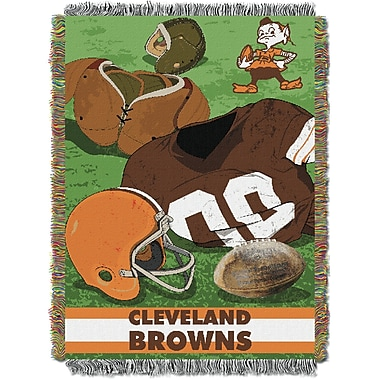 Northwest Co. NFL Browns Vintage Tapestry Throw
