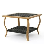 Ivy Bronx Drago Outdoor Coffee Table; Light Brown