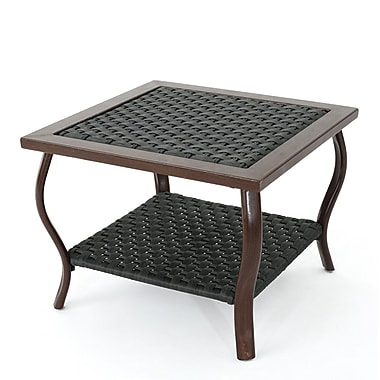 Ivy Bronx Drago Outdoor Coffee Table; Gray
