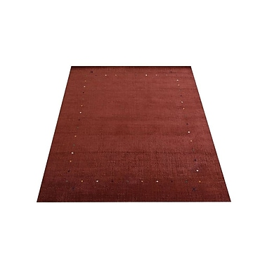 Latitude Run Ry Traditional Hand Knotted Loom Wool Red Area Rug; 6'7'' x 9'10''
