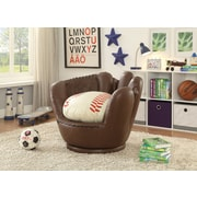Crown Mark Baseball Glove Kids Faux Leather Chair
