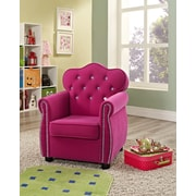 Crown Mark Amelia Kids Velvet Chair