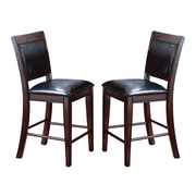 Crown Mark Fulton Counter Height Upholstered Dining Chair (Set of 2)