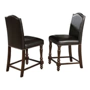 Crown Mark Langley Counter Height Upholstered Dining Chair (Set of 2)