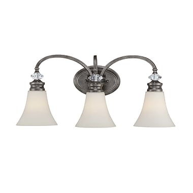 One Allium Way Derrik 3-Light Vanity Light; Amber