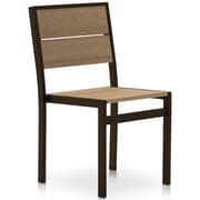 Orren Ellis Katreesha Modern Patio Dining Chair; Textured Black/Driftwood