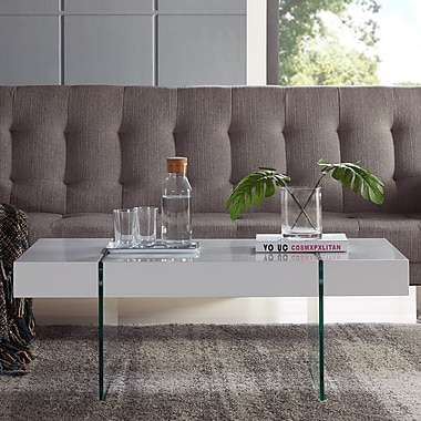 Orren Ellis Donquez Rectangular Coffee Table; White