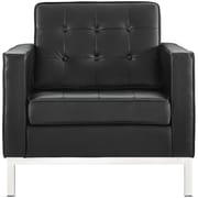 Orren Ellis Gayatri Leather Armchair; Black