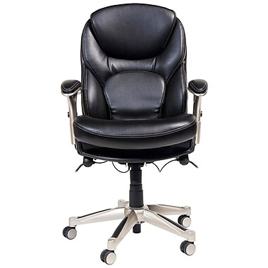 Serta at Home Serta Works Ergonomic Desk Chair ; Pepper Black