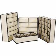 Rebrilliant Collapsible Storage Boxes Bra Underwear Closet 4 Piece Set Drawer Organizer Set