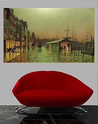 Winston Porter 'Liverpool Docks' Graphic Art Print Poster; 43'' H x 72'' W