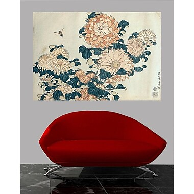 Winston Porter 'Chrysanthemums' by Katsushika Hokusai Graphic Art Print Poster; 16.5'' H x 24'' W