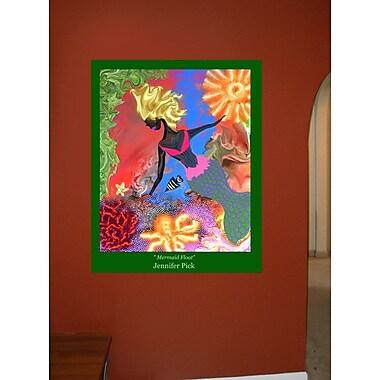 Winston Porter 'Mermaid Float' Graphic Art Print Poster; 36'' H x 28.5'' W