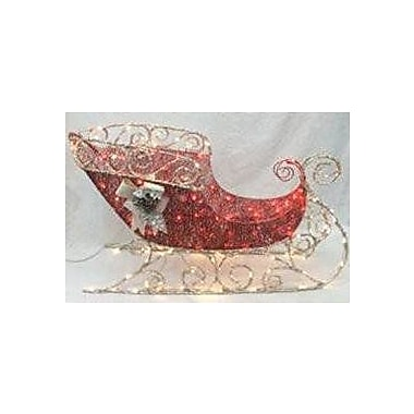 The Holiday Aisle Let it Snow Crystal Splendor Sled