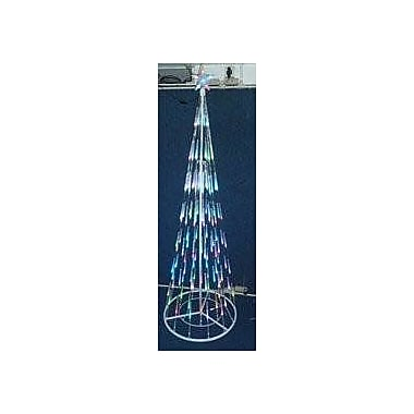The Holiday Aisle Let it Snow Multi Bubble Cone Artificial Christmas Tree w/ 80 Blue Lights