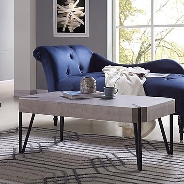 Union Rustic Vincente Rectangular Coffee Table; Concrete