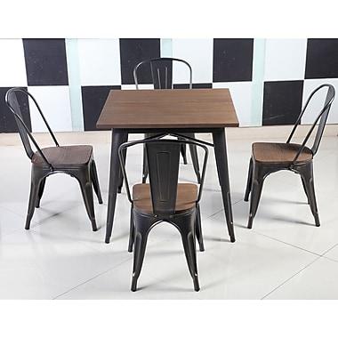 Williston Forge Felisa Dining Table; Antique Black Brushing