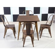 Williston Forge Felisa Dining Table; Antique Copper