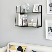 Williston Forge Ja 2-Tier Display Wall Shelf; Espresso