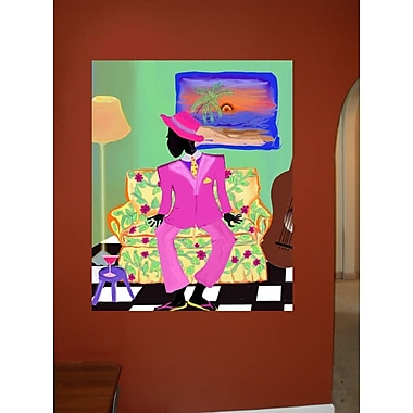 Winston Porter 'Bajan Jazzman' Graphic Art Print Poster; 36'' H x 28.5'' W
