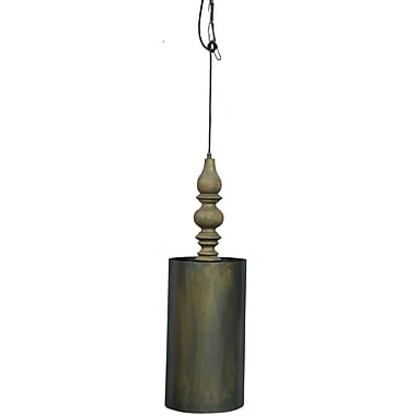 World Menagerie Chantelle Handmade Iron/Wooden 1-Light Mini Pendant
