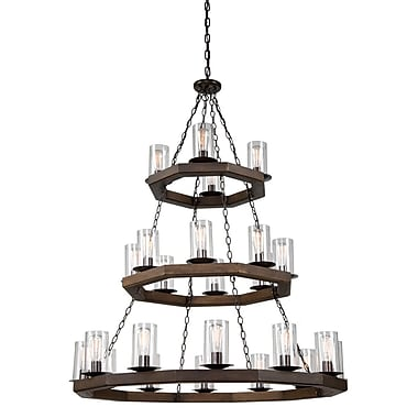 World Menagerie Akilah 24-Light Candle-Style Chandelier