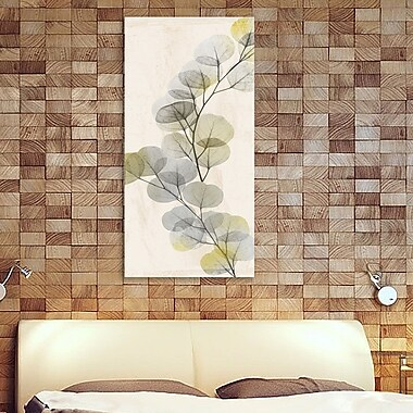 August Grove 'Golden Flaked 2' Graphic Art Print on Wrapped Canvas; 36'' H x 18'' W