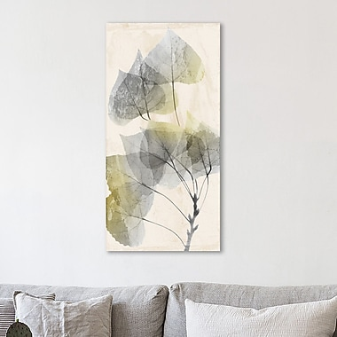 August Grove 'Golden Flaked' Graphic Art Print on Wrapped Canvas; 60'' H x 30'' W