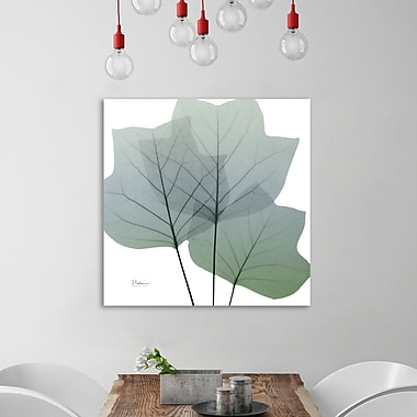 August Grove 'Rainy Tulip Tree' Graphic Art Print on Wrapped Canvas; 30'' H x 30'' W