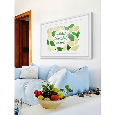 August Grove 'Be Grateful' Framed Painting Print; 16'' H x 24'' W