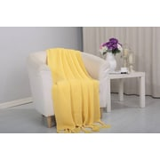 Alcott Hill Coggins Classic Woven Knitted Throw; Yellow