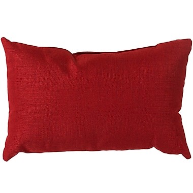 Alcott Hill Hullinger Indoor/outdoor Lumbar Pillow; Red