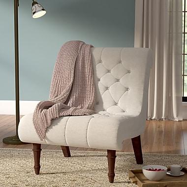 Astoria Grand Barnkine Tufted Side Chair; Oatmeal