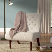 Astoria Grand Barnkine Tufted Side Chair; Oatmeal